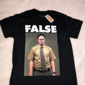 "NWT Dwight from The Office ""False"" t shirt"